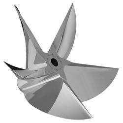 Picture of CNC Cleaver pro finished 5 blade sterndrive propeller