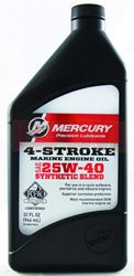 Mercury-Mercruiser 92-8M0078629 4-Cycle Oil, Synthetic Blend 1 Qt