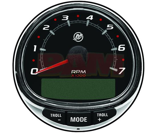 Genuine Mercury & Mercruiser parts  SC1000 Tach Black Face 85 mm